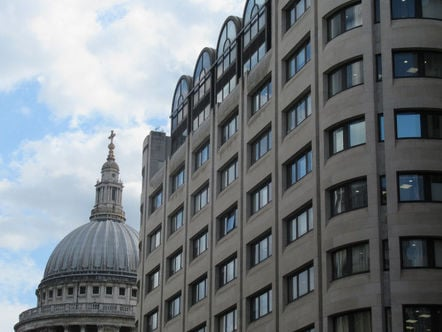 BT Centre with st paul's cathedral in the background, Taken from the east side. Pic copyright: SA Mathieson