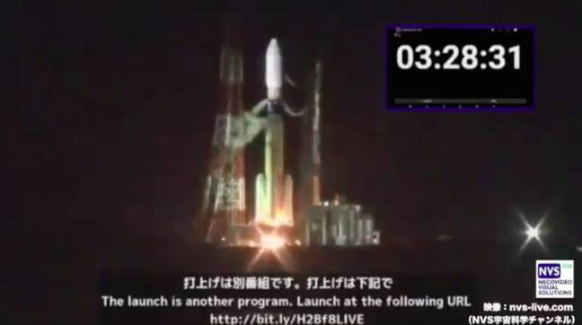 Oops: Rockets lighting their tails is a good thing – but not