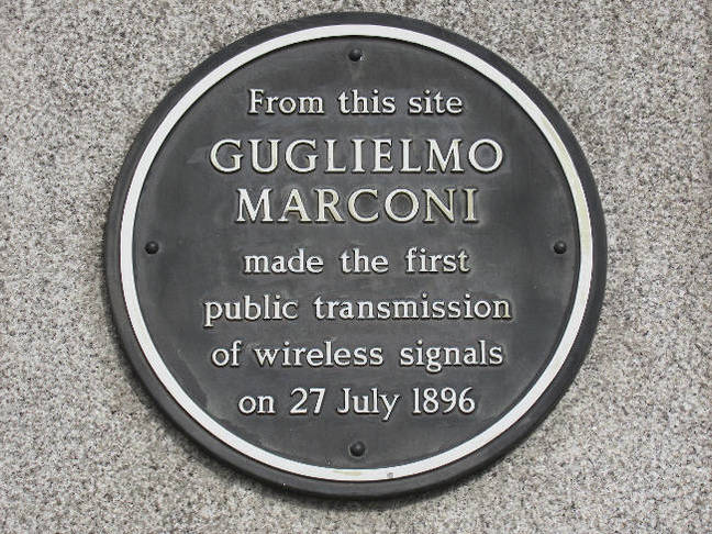 Marconi plaque on BT centre _ close-up. Pic copyright SA Mathieson