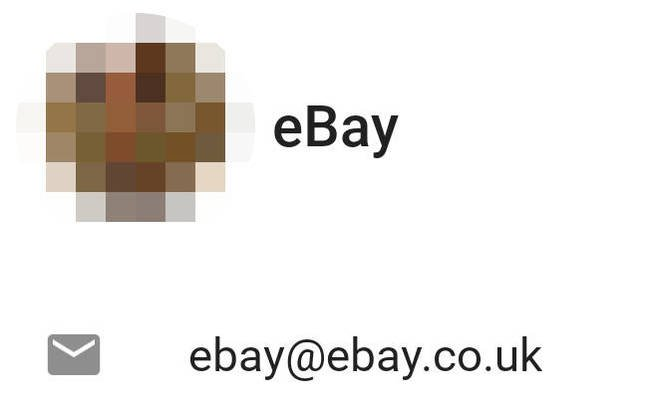 Pixelated screenshot of eBay