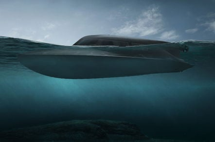 A Victa mini submarine surfacing
