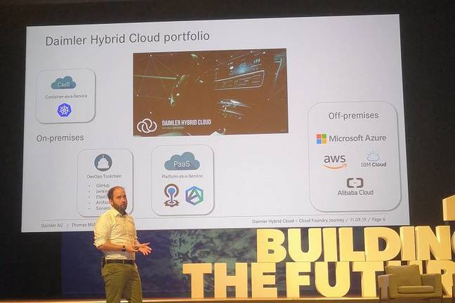 Multi-cloud and hybrid cloud is central to Daimler's IT strategy