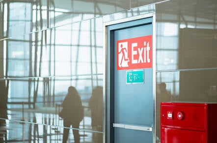 An emergency exit
