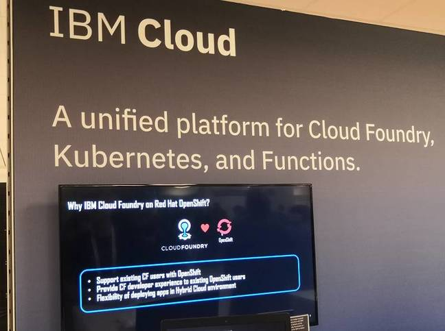 IBM Cloud on show at the Cloud Foundry Summit
