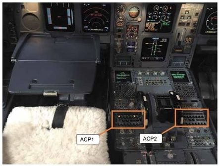 ACP1 is the captain's radio; ACP2 is the first officer's. Pic: Air Accidents Investigation Branch