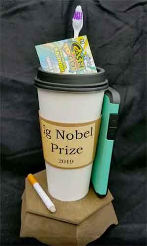 Ig Nobel Prize 2019 trophy