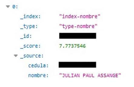 Julian Assange's ID on leaked Ecuadorian database