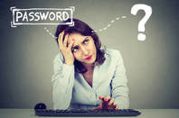 A woman trying to remember her password