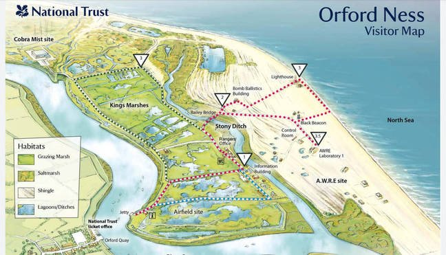 Orford Ness Map