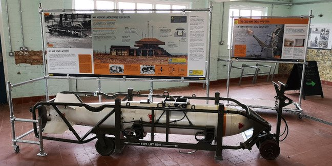 A WE177 atomic bomb on display in the Information Building2