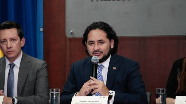 Minister of Telecommunications and Information Society, Andrés Michelena Ayala,