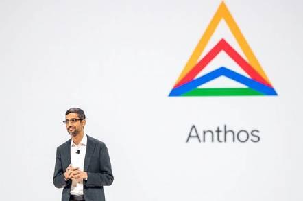 Google CEO Sundar Pichai introduces Anthos as the Cloud Next event