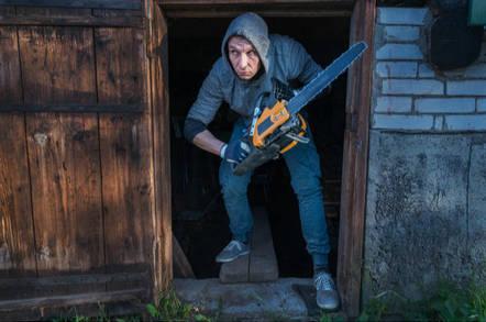 chainsaw wielding man