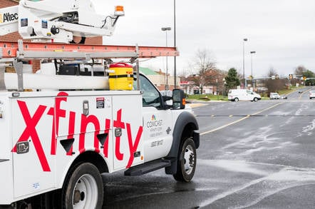 Comcast Xfinity van