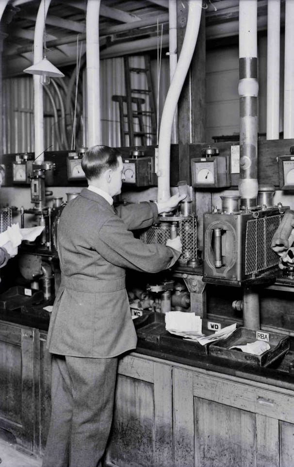 Pneumatic tubes, 1932.. Picture courtesy of BT Heritage & Archives