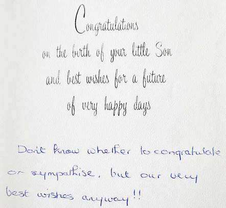 'Sympathy' greeting card