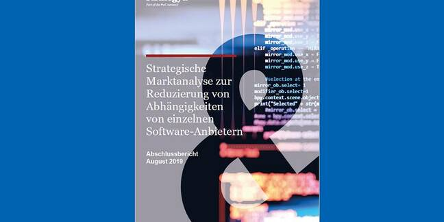 A report commissioned by the German government identifies strategic risks in using Microsoft software