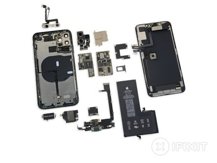 Disassembled iPhone 11 by iFixit