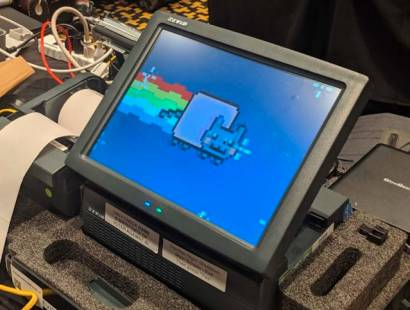 A hacked voting machine from Def Con 2019