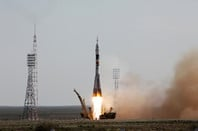 Soyuz TMA-04M launch from Gagarin's Start, 2012
