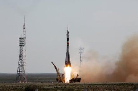 Soyuz TMA-04M launch from Gagarin's Start, 2012