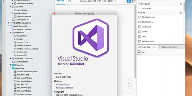 Microsfot has released Visual Studio for the Mac version 8.3