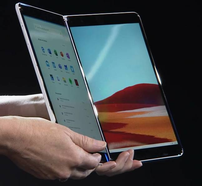 Surface Neo is a dual-screen, foldable device