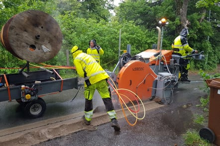 openreach's new diamond cutters digging fibre trenches