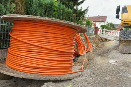 Broadband cable and construction in a rural area