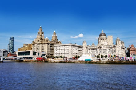 Liverpool waterfront with River Mersey