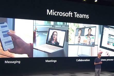 Microsoft CEO Satya Nadella presents Teams at Build 2019 in Seattle