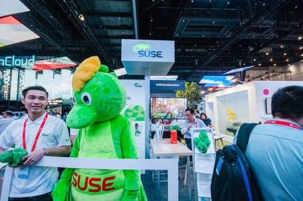 SUSE mascot at Huawei Connect 2016
