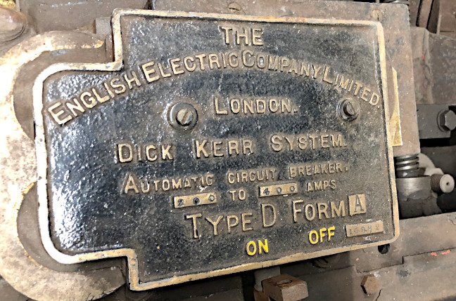 Mail Rail: English Electric sign