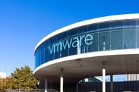 VMware logo on a building