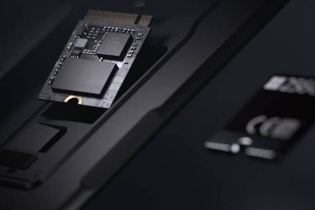 the removable ssd - 'not user removable, according to the microsoft video'