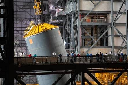 SLS Core Stage Pathfinder in VAB