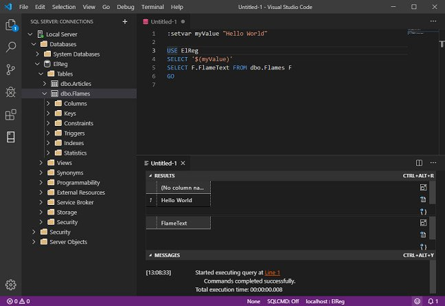 VS Code with MSSQL