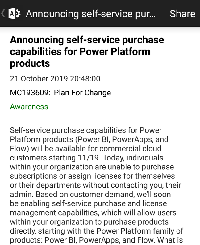 Microsoft announces self-service purchase for the Power Platform