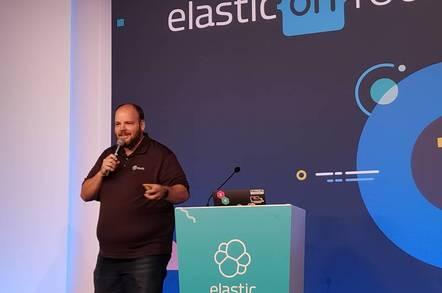 Elastic VP Steve Mayzak presenting in London