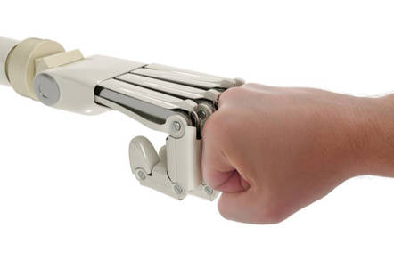 robot fist bump