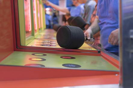 Whac-A-Mole game at amusement park