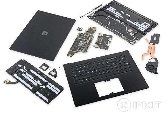 IFixit exposes guts of Surface Laptop 3, comes away surprised