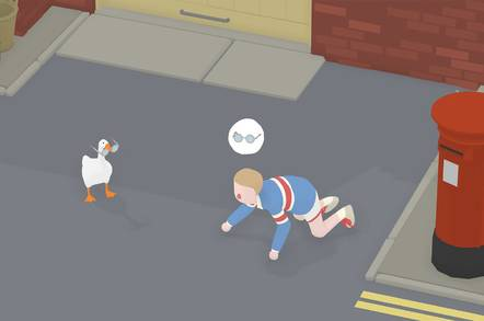 Screencap from Untitled Goose Game
