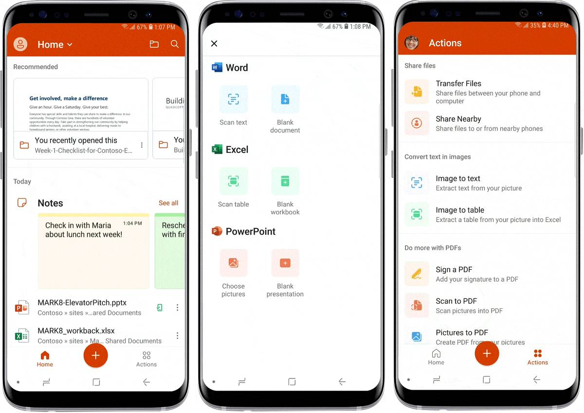 Microsoft Office app combines Word, Excel and PowerPoint into one app