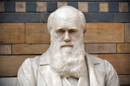 Statue of Charles Darwin in the National History Museum