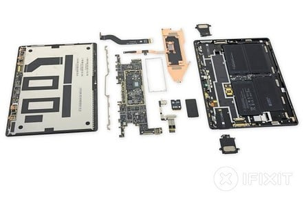 Surface Pro X Teardown (pic: iFixit)