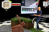 Satya Nadella in Minecraft Earth