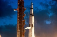 SATURN V AND APOLLO 4 1967. PIC: NASA