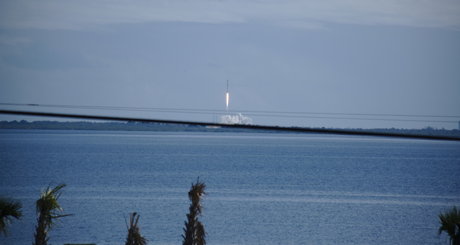 falcon 9 takes off