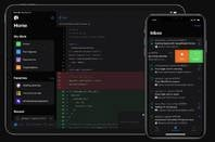 GitHub mobile app in dark mode